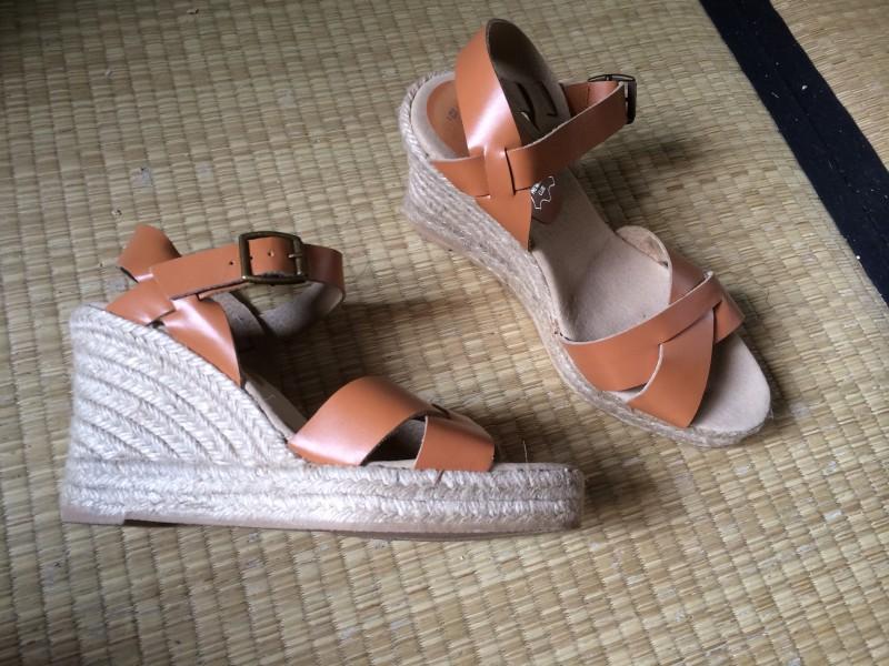 Sandale compensé type espadrille ANDRE taille 38